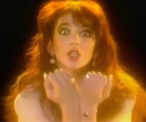 kate bush, wuthering heights, and 70s image