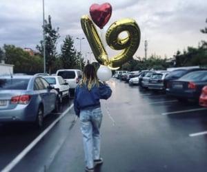 birthday, rain, and ballon image