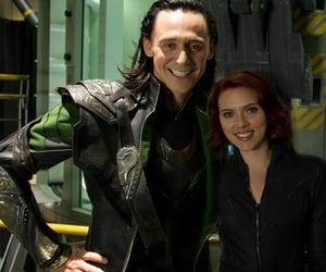 loki, black widow, and tom hiddleston image