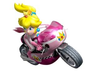 mario kart and princess peach image