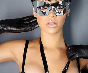 eyes, glossy, and gloves image
