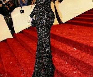 black dress, rihanna, and Couture image