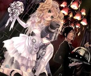 black butler, lizzy, and sebastian image