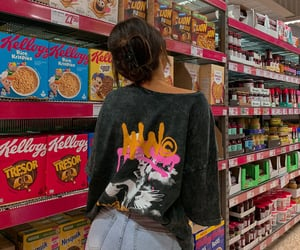 fashion, grocery store, and outfit image