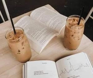 book, coffee break, and cozy image