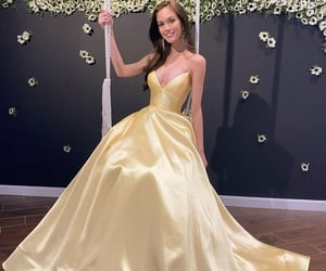 evening dress, girl, and fashion image