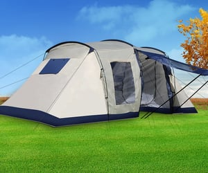 camping equipment, camping tent, and camping gear image