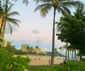 beach, vacation, and hawaii image