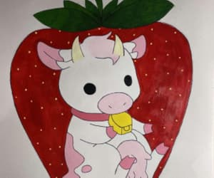 art, ❤, and cow image