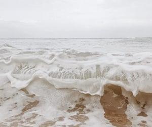 waves, ocean, and beige image