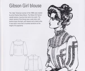blouse, Gibson Girl, and edwardian image