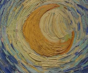 art, starry night, and moon image