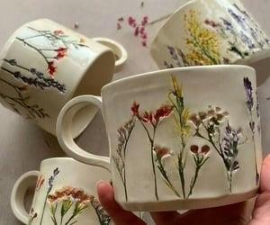flowers, aesthetic, and mug image