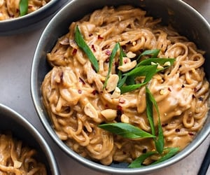 food, noodles, and delicious image