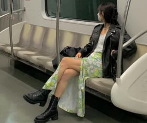 black boots, business casual, and dress image