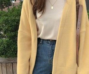 fashion, girls, and yellow image