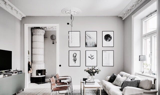 apartment, furniture, and gray image