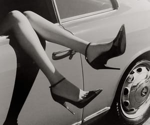 aesthetic, black and white, and car image
