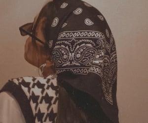 bandana, girl, and hair image