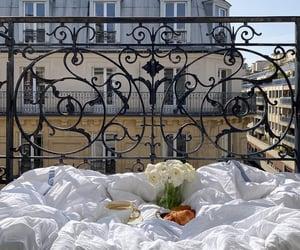 city, balcony, and breakfast image