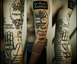 arm, tattoo, and tree image