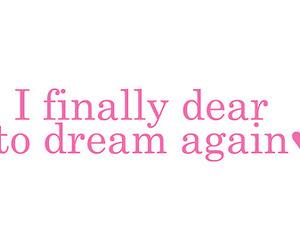 dear, love, and Dream image