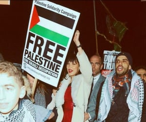 free palestine, palestine, and protest image