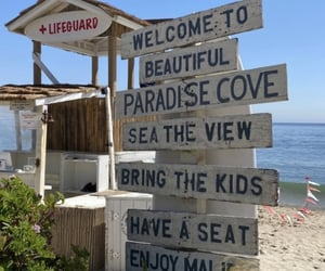 beach and sign image
