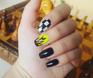 black, fire, and nails image