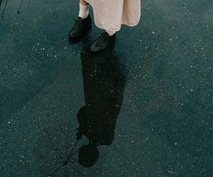 black boots, gloomy, and rain image