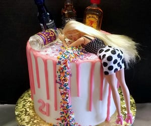 barbie, birthday cake, and funny image