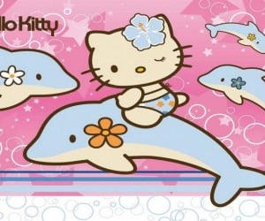 hello kitty, y2k, and coconut girl image