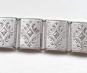 etsy, silver bracelet, and vintage bracelet image