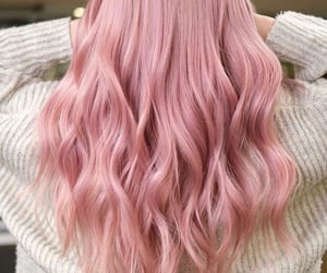 hair, hairstyles, and pink image