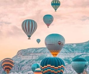 hot air balloons, travel, and wanderlust image