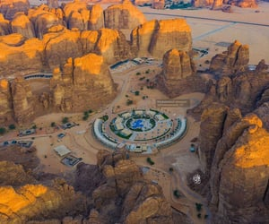 aerial photography, aerial view, and golden image