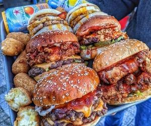 cheese, food, and hamburger image