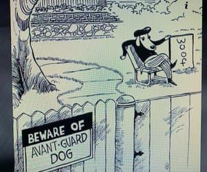 beware of avant guard dog and woof i say image
