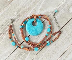 etsy, turquoise pendant, and faux turquoise image