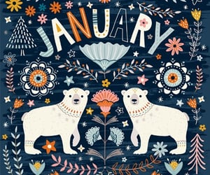 illustration, month, and january image