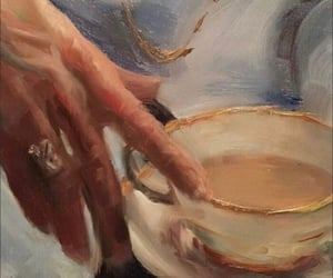 art, painting, and coffee image