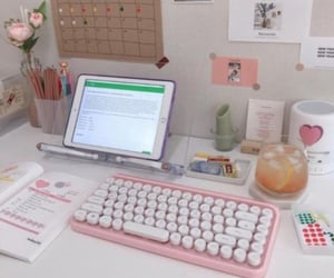 pink, school, and study image