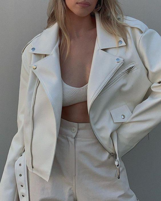 fashion, fashionable, and leather jacket image