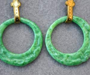 etsy, molded glass, and earrings vintage image