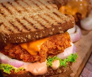 bread, cheese, and Chicken image