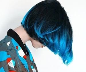 blue hair, hair, and inosuke image