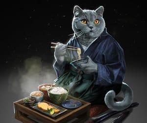 cats, culture, and samurai image