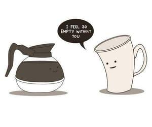 drawing, fun, and coffee image