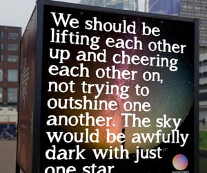 encouragement, sky, and stars image