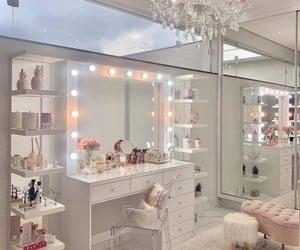 makeup, mirror, and bedroom image